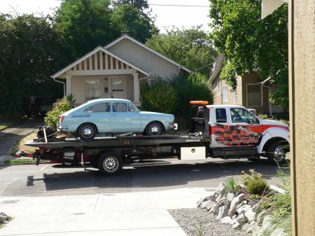 Towed home